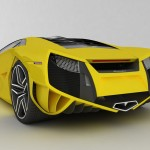 Concept Yellow Rear View Wallpaper