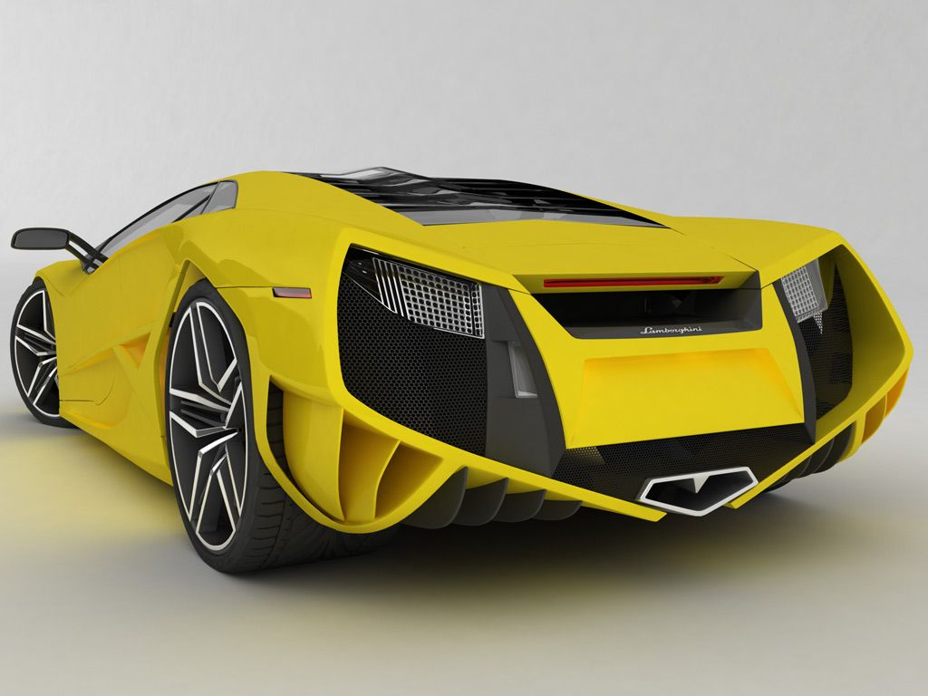 Concept Yellow Rear View Wallpaper 1024x768