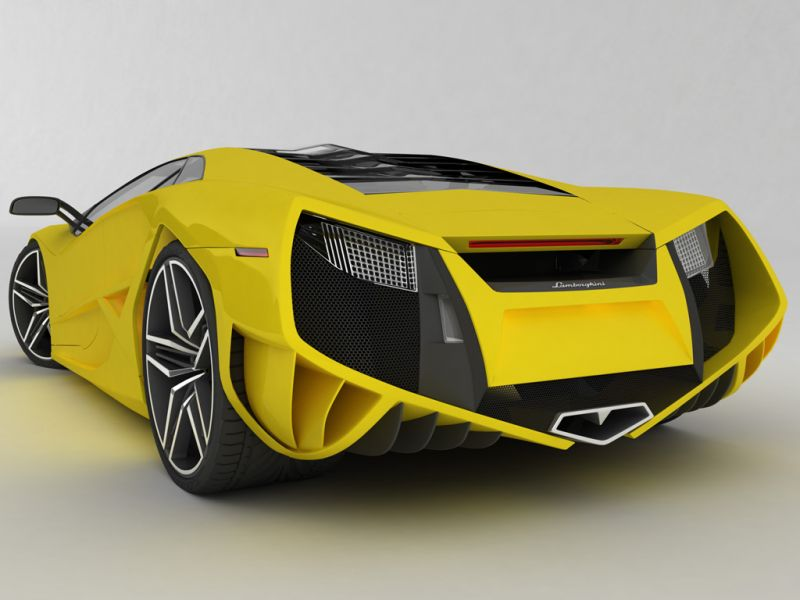 Concept Yellow Rear View Wallpaper 800x600