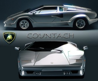 Countach Collage Wallpaper