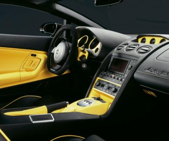 Gallardo 2005 Interior Yellow Trim Wallpaper
