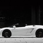 Gallardo Gt600 White Side View Wallpaper