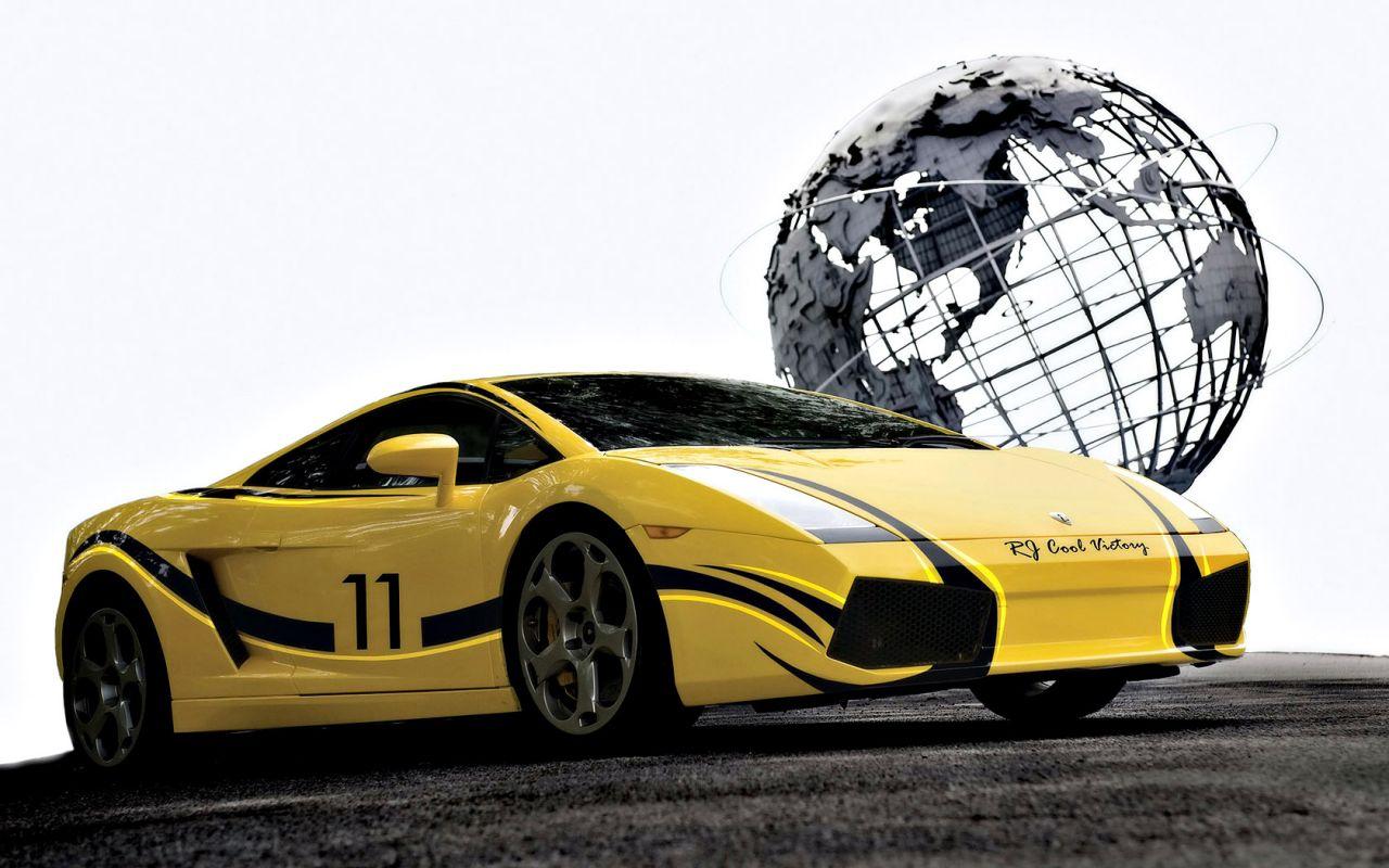 Gallardo Low Angle Globe Background Wallpaper 1280x800