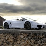Gallardo Lp560 Spyder White Side View Wallpaper