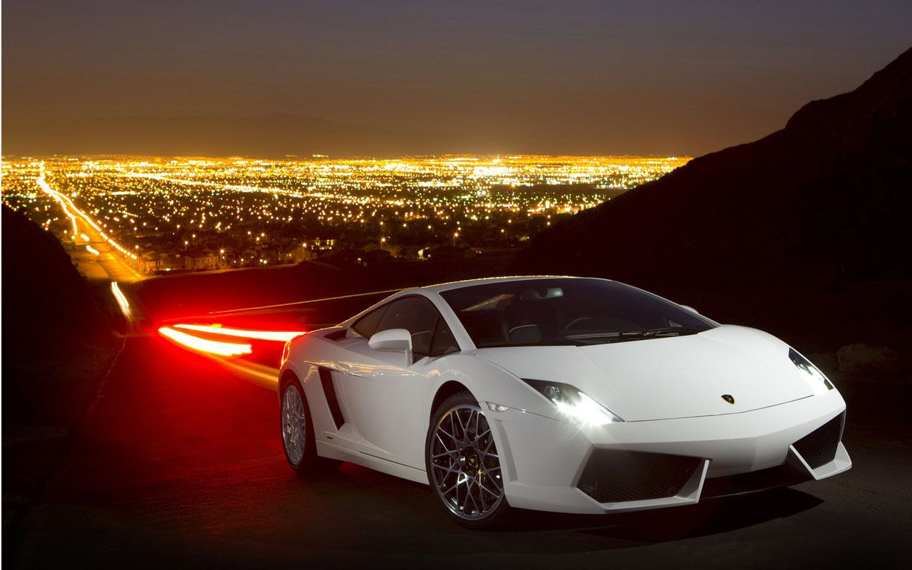 Gallardo Lp560 White City Lights Wallpaper 1280x800