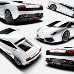 Gallardo Lp640 White Collage Wallpaper
