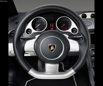 Gallardo Nera 2007 Steering Wheel Wallpaper
