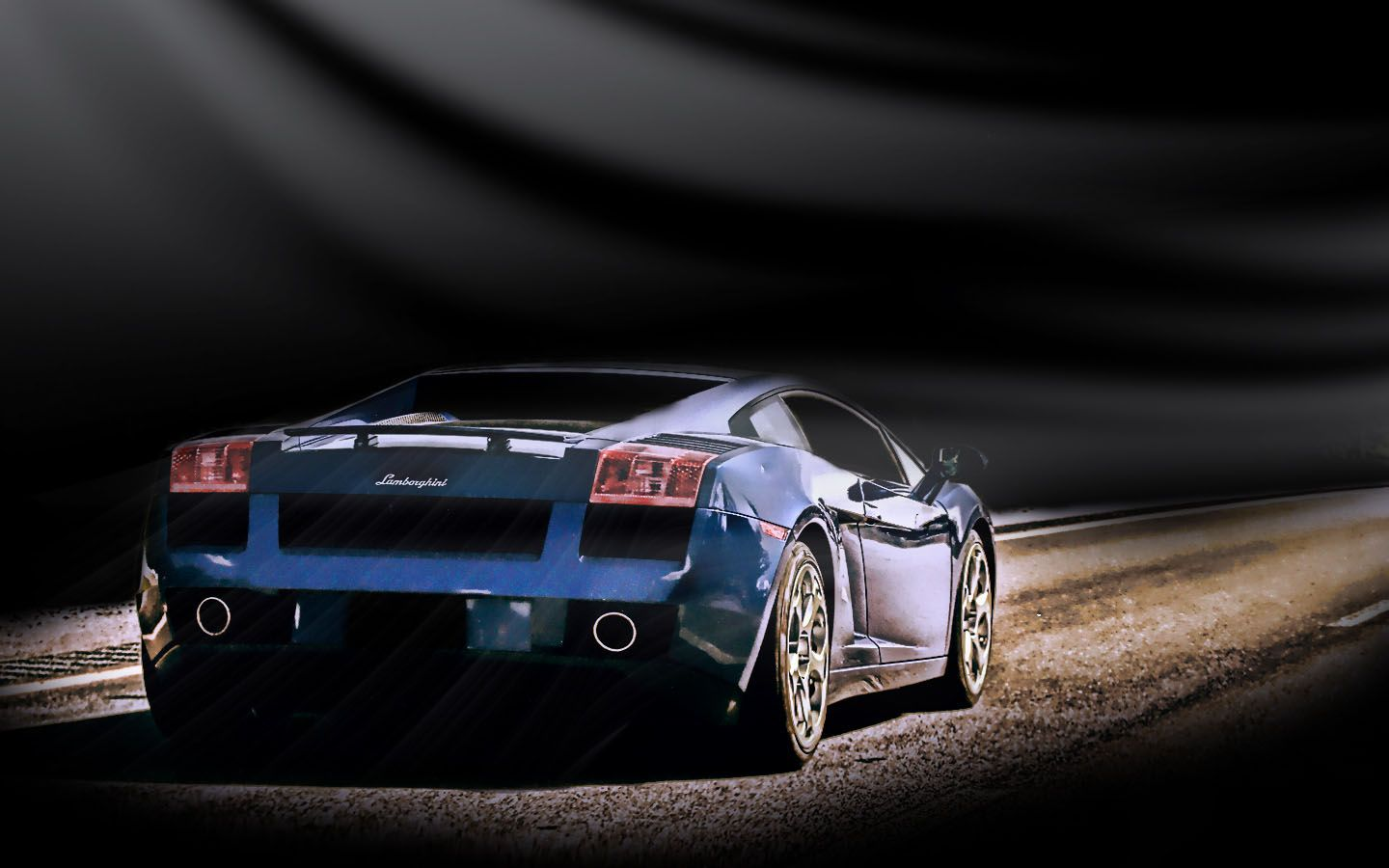Gallardo Rear View Wallpaper 1440x900