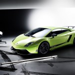 Gallardo Superleggera High Angle With Spotlight Wallpaper