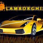 Gallardo Yellow Front With Logo Wallpaper