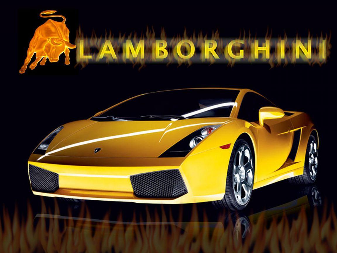 Gallardo Yellow Front With Logo Wallpaper 1152x864