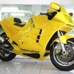 Lamborghini Yellow Motorcycle Wallpaper