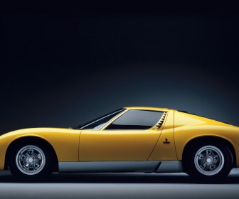 Miura Yellow Left Side View Wallpaper