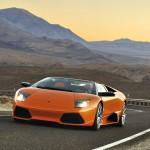Murcielago Lp640 Roadster Orange Front Wallpaper
