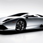 Murcielago Silver Side View Wallpaper