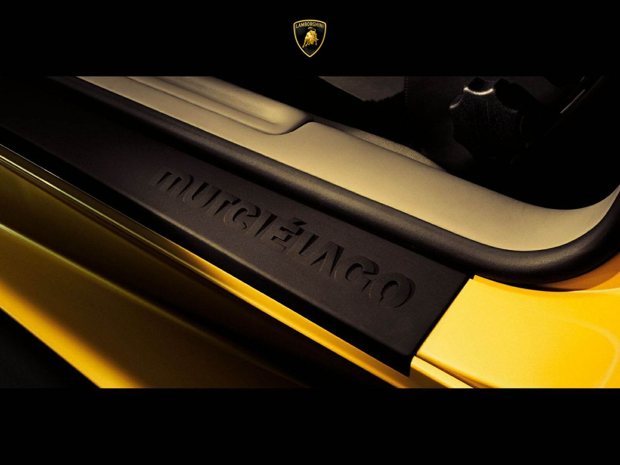 Murcielago Step Board Emblem Wallpaper 1280x960
