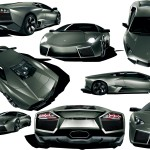 Reventon Collage Wallpaper