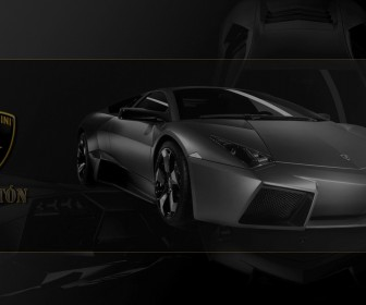 Reventon Front View With Logo Wallpaper