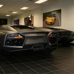 Reventon Rear Angle Showroom Wallpaper