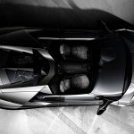 Reventon Roadster Top View Tire Marks Wallpaper