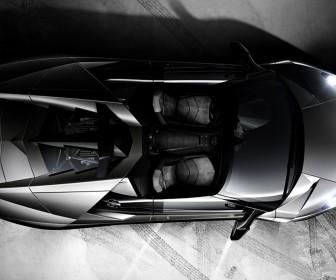 Reventon Roadster Top View Tire Marks Wallpaper
