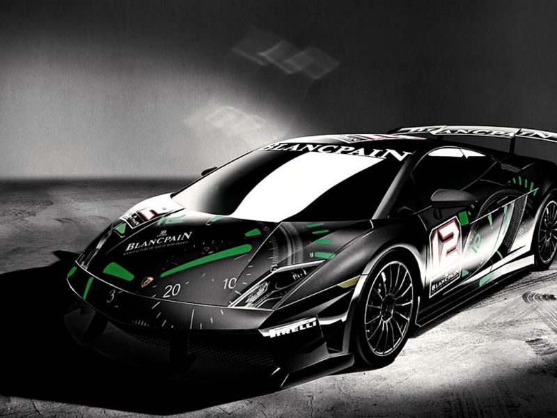 Super Trofeo Black Blancpain Front High Angle Wallpaper 800x600
