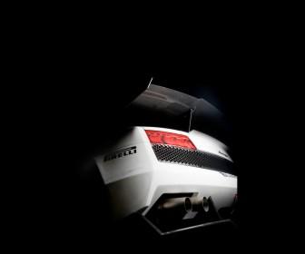Super Trofeo White Rear View Wallpaper