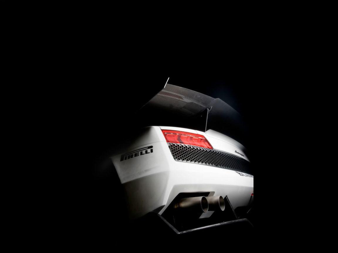 Super Trofeo White Rear View Wallpaper 1152x864
